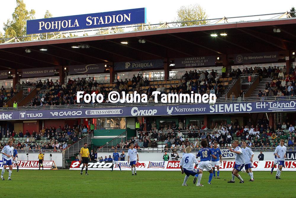 10.06.2003, Pohjola Stadion, Vantaa, Finland.UEFA Under-21 European Championship Qualifying match, Finland v Italy.P??katsomo.©Juha Tamminen