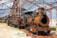 Sugar train in Rafael Freyre, Holguin, Cuba.