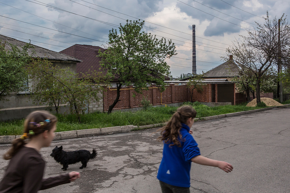 LUHANSK, UKRAINE - MAY 3: A street scene on May 3, 2014 in Lukansk, Ukraine. Cities across Eastern Ukraine have been overtaken by pro-Russian protesters in recent weeks, leading the Ukrainian military to respond with force in some areas. (Photo by Brendan Hoffman for The Washington Post)