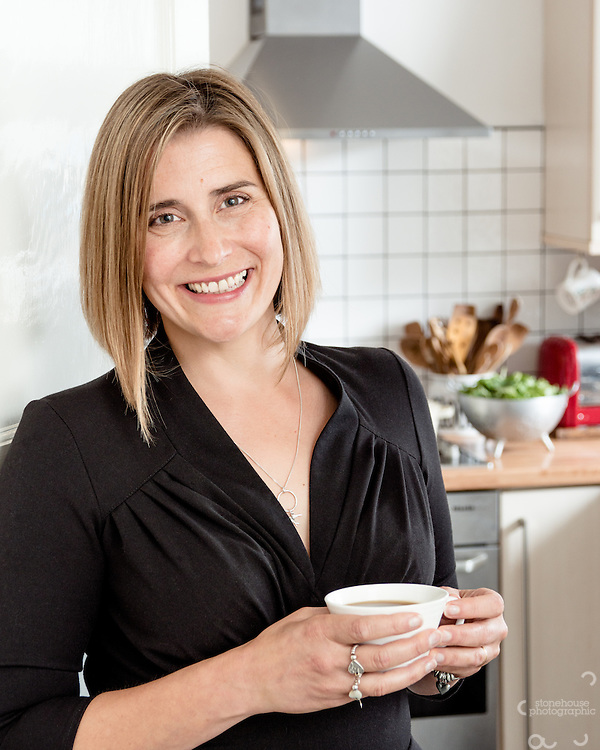My lovely wife Laura Stonehouse taken for her Cook Book 'Our House For Tea' and use as profile portrait for social Media.<br />
