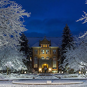 The academic year's first significant snowfall occurred on Dec. 16. (Photo by Matt Weigand)