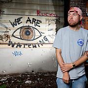 Columbus rapper Vada photographed Monday, October 3, 2016. (Rob Hardin / Alive)