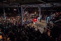 22 MAR 2017, BERLIN/GERMANY:<br /> Martin Schulz, SPD Parteivorsitzender und Spitzenkandidat der SPD zur Bundestagswahl, haelt eine Rede auf dem Neumitgliedertreffen der Berliner SPD, Festsaal Kreuzberg<br /> IMAGE: 20170322-02-123<br /> KEYWORDS: Martin Schulz, speech, Kanzlerkandidat, candidate