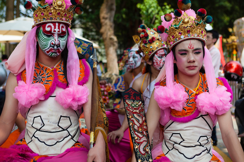 Taiwan's Ba Jia Jiang or Eight Generals are temple and deity guardians that offer mystical protection durign religious ceremonies and events. Bao An Temple, Taipei, Taiwan.