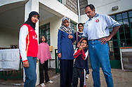 Nairobi, Kenya: Former captain of Kenya's national cricket squad, which competed in the 1999 and 2003 World Cups, Aasif Karim with wife Nanzeen, daughters Fatema and Zainab, and sons Irfan and Imran. Kenya won two matches in 2003, and Aasif was named Man of the Match for his performance against Australia, even though his side lost. Now he is managing director of an insurance brokerage and works as a property developer