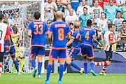 EINDHOVEN - PSV - Feyenoord , Voetbal , Seizoen 2015/2016 , Eredivisie , Philips Stadion , 30-08-2015 , PSV speler Santiago Arias (r) scoort de 2-1