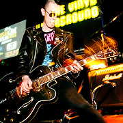 Korean punk rock musician Hyun Minho performs in Busan, South Korea.