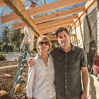 """We bought this house in January and plan to live here half time, spliting our time in Humbolt County.  Eventually, we will live here full time.  It's only 600 squre feet but we will make it work.  We are having the porch replaced...it was toast.""  -Dee and Mike Atkins at their new home in Calistoga"