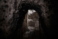 Iraq, Kurdistan: Underground IS tunnel a in Sinjar. <br /> For more than one year between 2014 and 2015 Sinjar has been under ISIS control. When in November 2015 Peshmerga forces and Yazidi militias backed by US airstrikes entered the town and fully regained full control from IS, found the city heavily destroyed. Alessio Romenzi