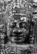 Cambodia.<br /> Large head at the Bayon temple.<br /> Nov. 2001