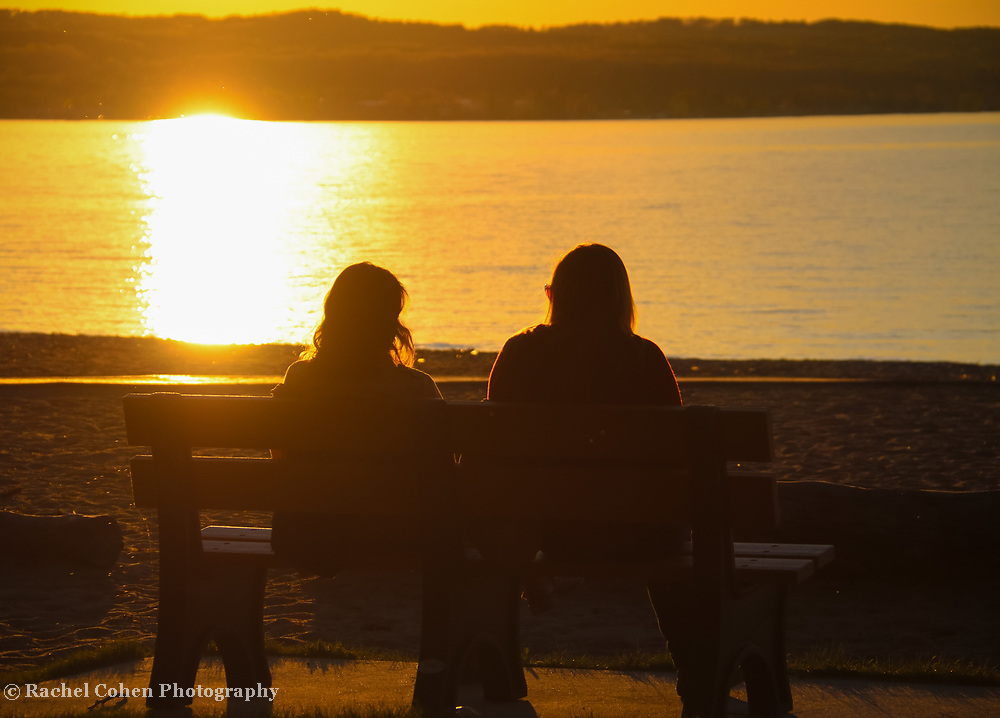 &quot;Friends&quot;<br /> <br /> The beauty of two friends watching the sunset together.