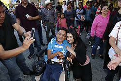 """LYNWOOD, CA - APRIL 19: Singer Graciela Beltran poses with fans during her meet and greed to promote her latest CD """"Evitame La Pena"""" at Plaza Mexico in Lynwood, California USA on April 19, 2017. Byline, credit, TV usage, web usage or linkback must read SILVEXPHOTO.COM. Failure to byline correctly will incur double the agreed fee. Tel: +1 714 504 6870."""