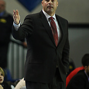 Maine Red Claws Head Coach Mike Taylor seen in the first half of an NBA D-league regular season basketball game between the Delaware 87ers (76ers) and the Maine Red Claws (Boston Celtics) Tuesday, Feb. 4, 2014 at The Bob Carpenter Sports Convocation Center, Newark, DE