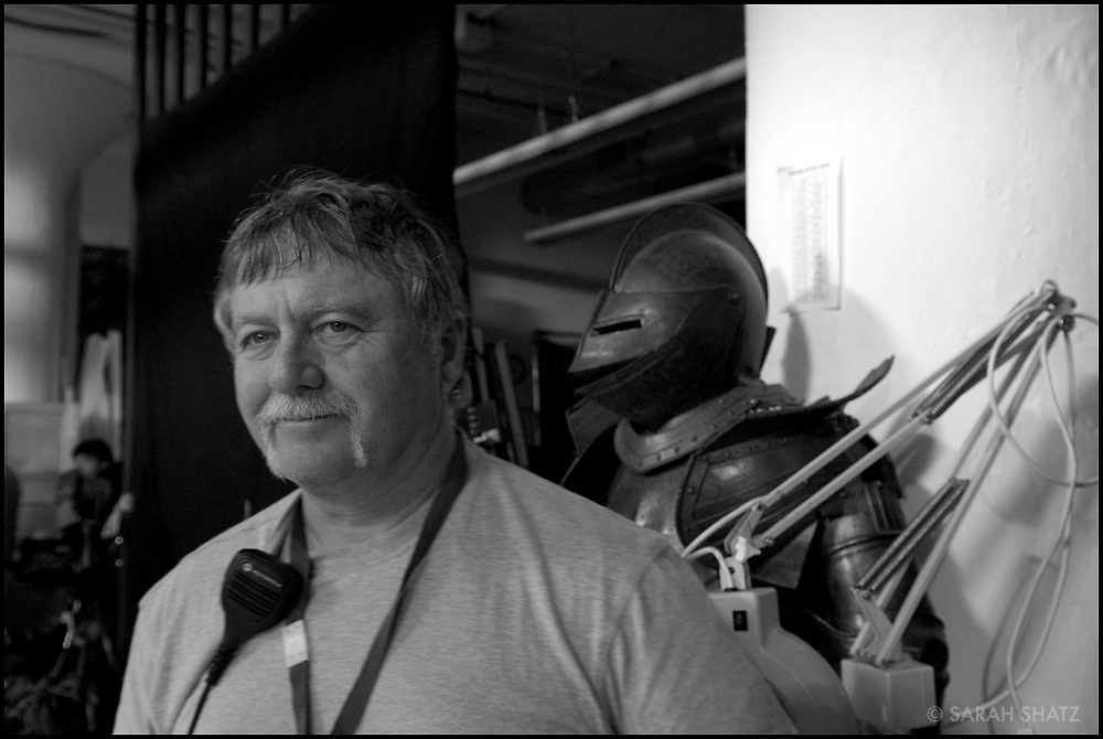 "Russ Engels on the set of ""Ghost Town"" (Dir: David Koepp, 2008)"