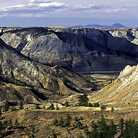 Overlooking the Missouri River and badlands in the Missouri River Breaks National Monument. North of Winifred, Montana