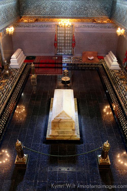 Africa, Morocco, Rabat. Mausoleum of Mohammed V.
