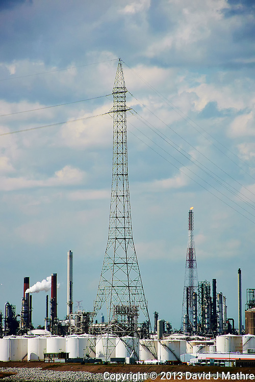 Powerlines Over a Refinery Along the Scheide River After Departing Antwerp, Belgium. Image taken with a Nikon 1 V2 camer and 10-100 mm VR lens (ISO 60, 100 mm, f/5.6, 1/1250 sec)