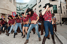SEP 10 2013 Protest against BBC Radio 1 not playing country music