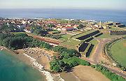 Sri Lanka. An aerial view of the historic Galle Fort. The Galle Fort is a UNESCO World heritage Site.