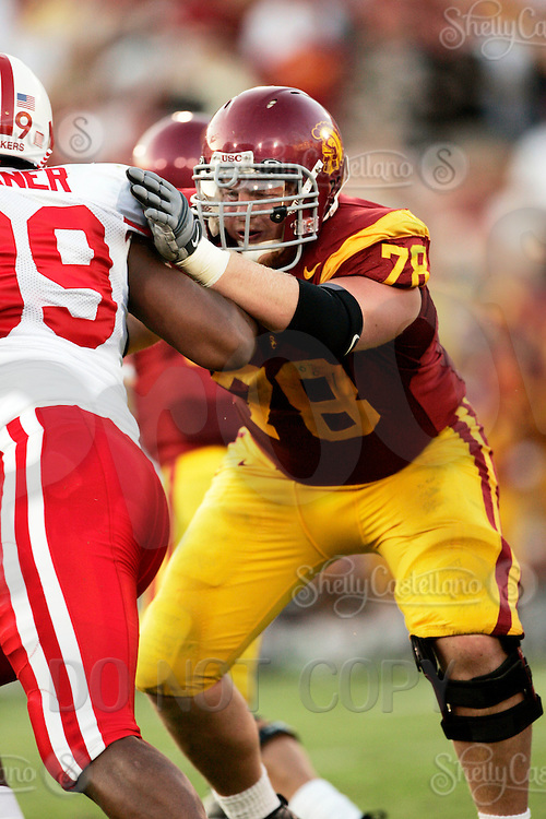16 September 2006: #78 Kyle Williams on defense during USC Trojans college football home opener against the Nebraska Cornhuskers with a 28-10 win over the Big-12 team at the Los Angeles Memorial Coliseum in CA.