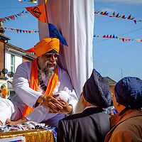 Vaisakhi celebrations by the Sikh community in Southampton, England.