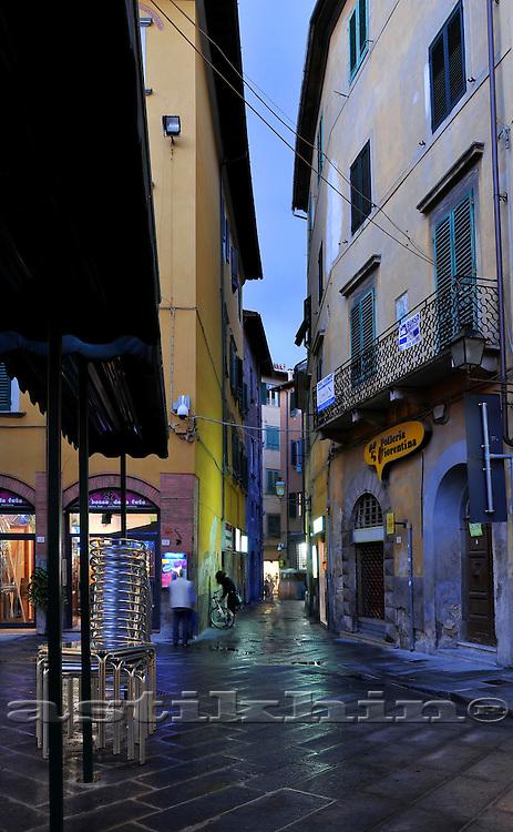 Street of Pisa on twilight
