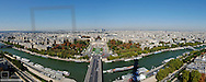 Paris, city panorama, Trocadero, Seine, France, Ile-de-France