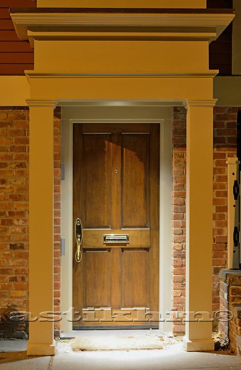 Door at night.