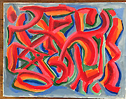 Chinese Puzzle. Acrylic on Paper.<br />