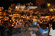 A memorial was created outside of the office of Arizona Congresswoman, Gabrielle Giffords, who is recovering from a gunshot wound to the head that she sustained on January 8, 2011, in Tucson, Arizona, USA.  Six people died in the attack outside of a grocery store.
