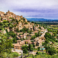 The hillside town of Gordes in the South of France