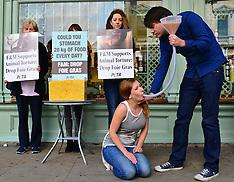 AUG 07 2013 PETA demo in London