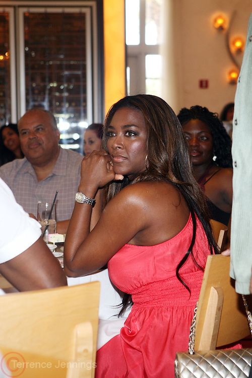 24 June 2010- Miami Beach, Florida- Kenya Moore at the The 2010 American Black Film Festival Founder's Brunch held at Emeril's on June 24, 2010. Photo Credit: Terrence Jennings/Sipa