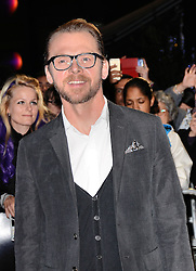 Simon Pegg attends Kill Me Three Times Premiere as part of BFI LFF at Odeon West End on Saturday 18th October 2014