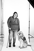 Carolyn McLeod<br /> and Service Dog Marshall<br /> Army<br /> E-3<br /> Public Affairs Specialist<br /> 2003-2004<br /> <br /> Challenge Aspen C.A.M.O. Event<br /> Veterans Portrait Project<br /> Snow Mass, Colorado
