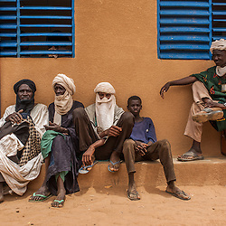 Malian refugees at the Goudebou camp, Burkina Faso on 6 May 2014.