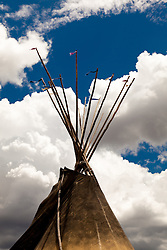 Tipi and clouds. Taos, New Mexico.