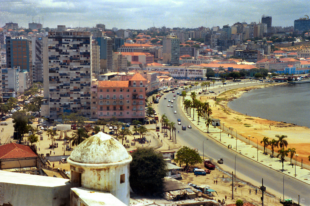 The capital of Luanda in Angola is shown in this file photo.  President Jose Eduardo dos Santos, who has led Angola since 1979, said he would not run in presidential elections planned for next year.  Angola's brutal 26 year-civil has displaced around two million people - about a sixth of the population - and 200 die each day according to United Nations estimates. .(Photo by Ami Vitale)