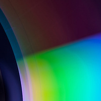 Macro image of a compact disc.