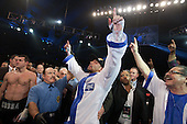 Andre Ward celebrates Super Six win