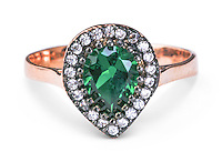 Jewelry photographer Keith Carter Photography of Jade, diamond on copper ring