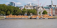 London 1666 Designed by David Best. Inspired by the events of 1666, the sculpture will be floated onto the Thames and set on fire.<br /> 31 Aug 2016