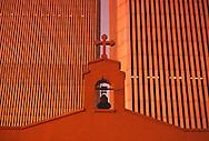 NYC, NY, World Trade Center and Saint Nicholas Greek Orthodox Church, Twin Towers, designed by Minoru Yamasaki, International Style II
