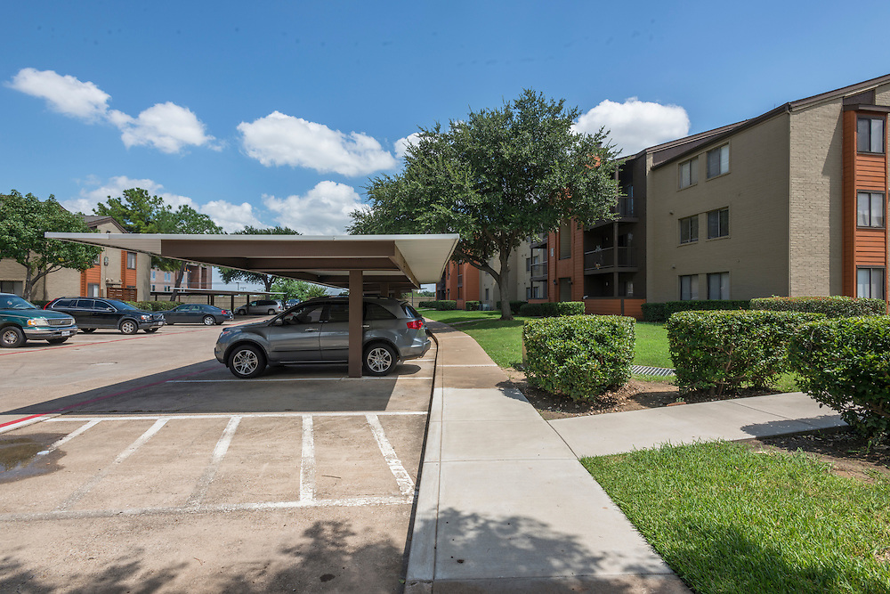Post-renovation photograph of Derby Park Apartments in Grand Prarairie, Texas, a suburb of Dallas and Fort Worth, for Vesta Management