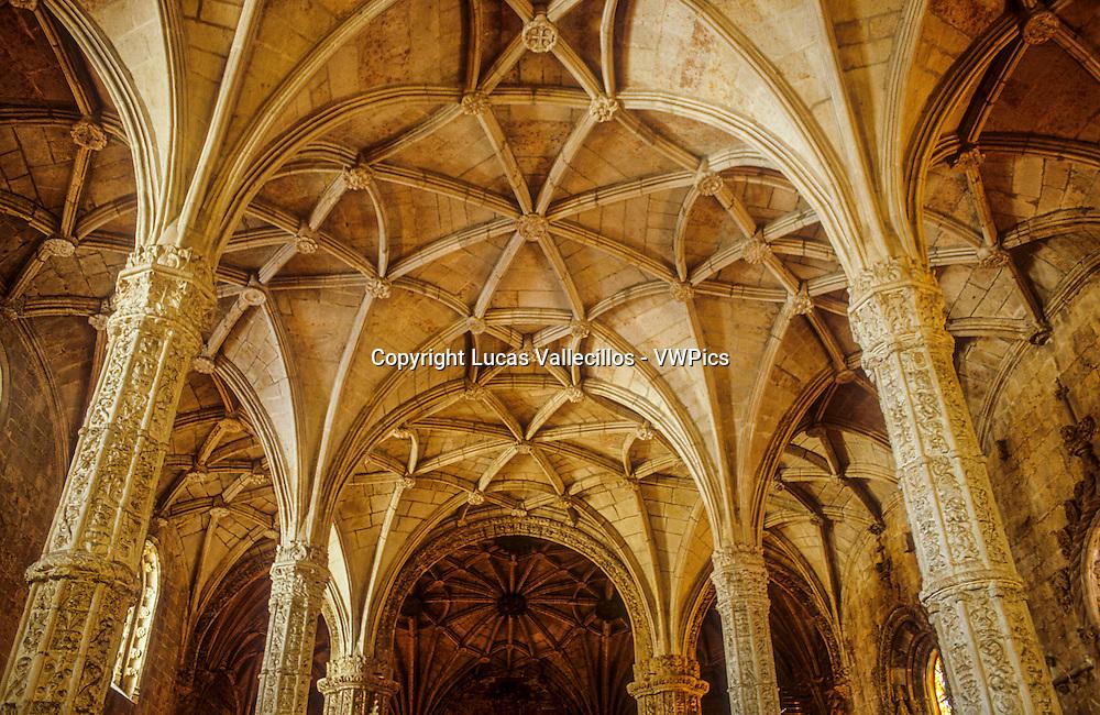Santa Maria church, Jeronimos monastery,Belem, Lisbon, Portugal.