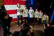 Photographers flock to photograph the Fisher family at a campaign rally for GOP presidential candidate Mitt Romney in Elko, Nevada, February 3, 20112.