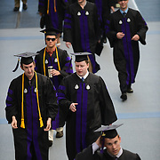 Law Students walking to McCarthey Center for graduation on Saturday, May 12, 2012.