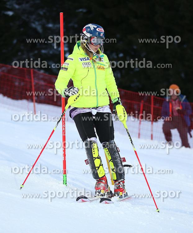13.01.2015, Hermann Maier Weltcupstrecke, Flachau, AUT, FIS Weltcup Ski Alpin, Flachau, Slalom, Damen, 1. Lauf, im Bild Mikaela Shiffrin (USA) // Mikaela Shiffrin of the USA before 1st run of the ladie's Slalom of the FIS Ski Alpine World Cup at the Hermann Maier Weltcupstrecke in Flachau, Austria on 2015/01/13. EXPA Pictures © 2015, PhotoCredit: EXPA/ Johann Groder