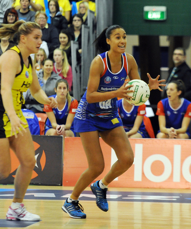 Mystics' Maria Tutaia against the Mystics in the ANZ Championship netball, Arena Manawatu, Palmerston North, New Zealand, Sunday, May 18, 2014. Credit:SNPA / Ross Setford