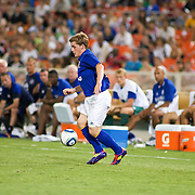 Everton Attacker Conor McAleny #11 retains procession of the ball during the MLS International friendly match between Everton FC of England and DC United. Everton FC Defeated DC United 3-1 Saturday, July 23, 2011, at  RFK Stadium in Washington DC.